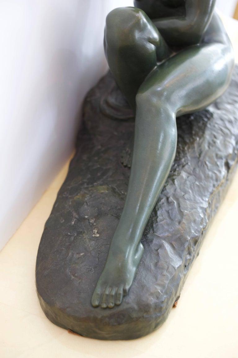 Art Deco Large Limestone Sculpture -Marcel Bouraine