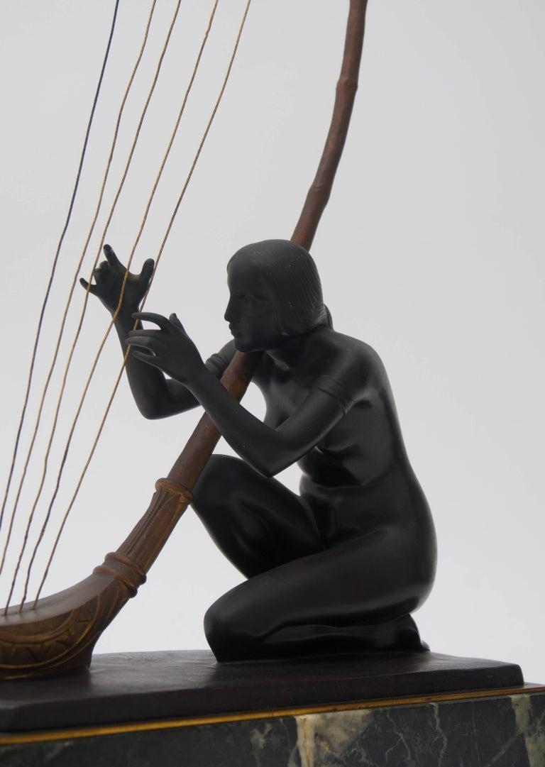 Cast Art Nouveau Bronze Sculpture by Hans Muller For Sale