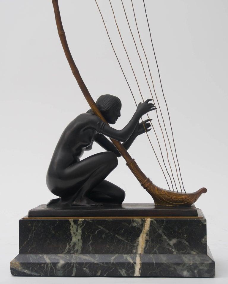 Austrian Art Nouveau Bronze Sculpture by Hans Muller For Sale