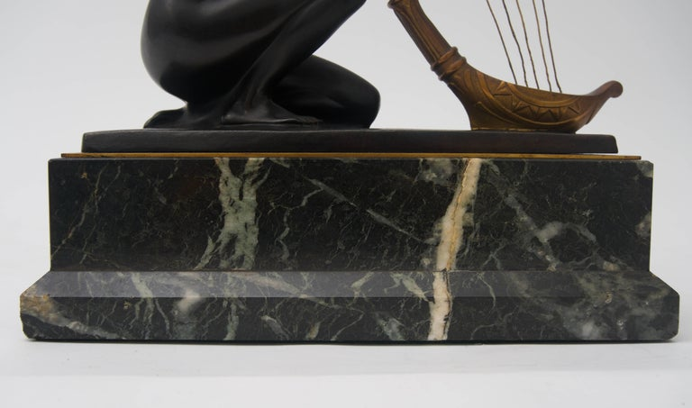 Art Nouveau Bronze Sculpture by Hans Muller In Good Condition For Sale In West Palm Beach, FL