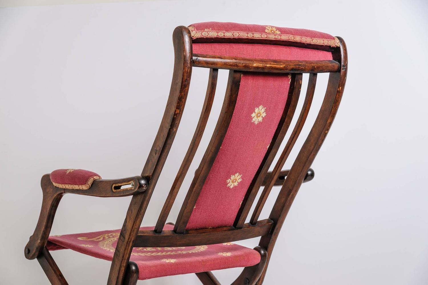 19th Century French Napoleonic Campaign Style Folding Chair For Sale At 1st