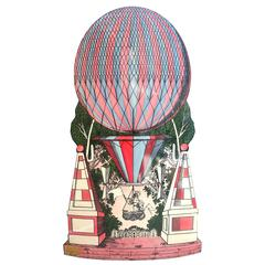 Mid-Century Hollywood Regency, Fornasetti Umbrella Stand, Hot Air Balloon Motif