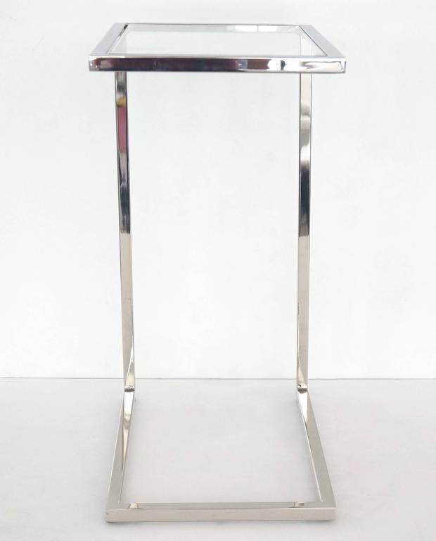 Pair of 1970s milo baughman thin line side tables in for Thin side table