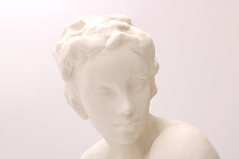 Art Deco Hutschenreuther Selb Porcelain Sun Child Nude