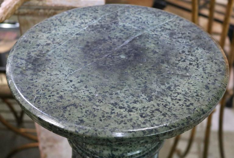 Italian  Green Marble Pedestal For Sale