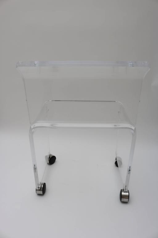 Charles Hollis Jones Style Lucite Vanity Stool Chair For