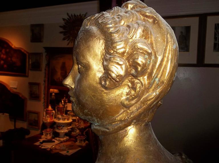 Louis XV Madame Pompadour .Depicted as Large Gilt Sphinx