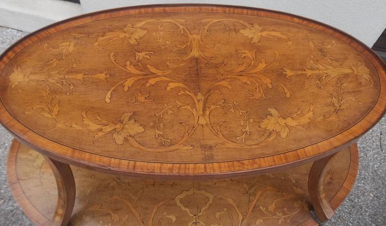 With sycamore, boxwood, mahogany inlays. In the English Adam style (known as in the French taste to the English).   English, circa 1890-1910.  Typical age issues, minor staining or darkening in scattered areas.