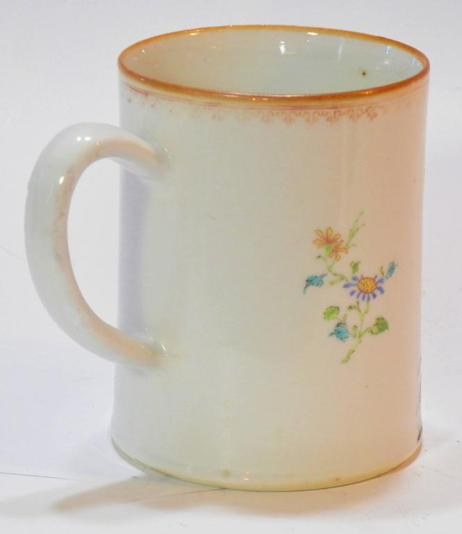 Rococo Chinese Export St. James Armorial Tankard In Good Condition For Sale In Quechee, VT