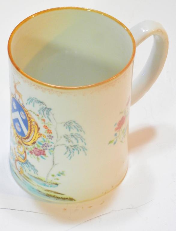 Rococo Chinese Export St. James Armorial Tankard For Sale 1