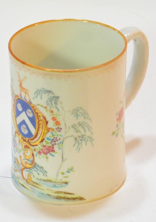 Rococo Chinese Export St. James Armorial Tankard For Sale 2