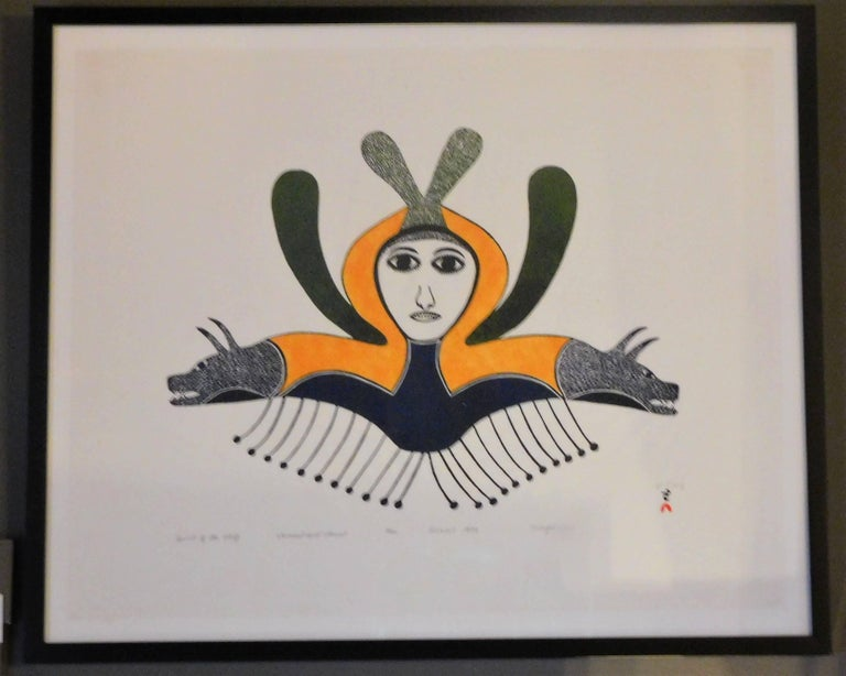 Spirit of the Wolf, Ningeeuga Oshuitoq, Cape Dorset Inuit Art, 1979 For Sale 2