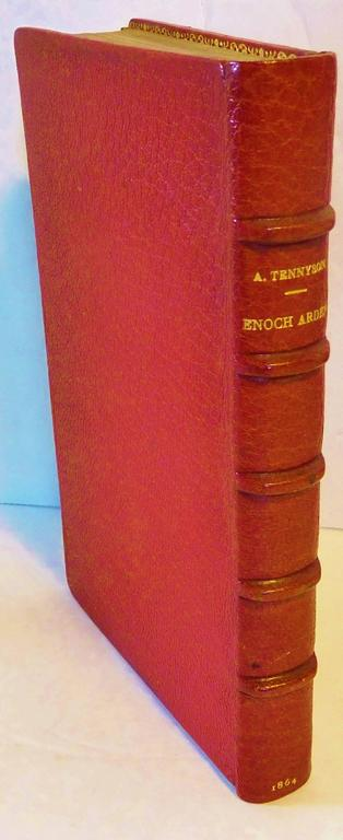 This first edition of Alfred Tennyson's (1809-1892) famous narrative poem was published in London by Edward Moxon and Co, of Dover Street. in 1864. It was printed by Bradley and Evans, Whitefriars, London. And it was bound in crimson Moroccan