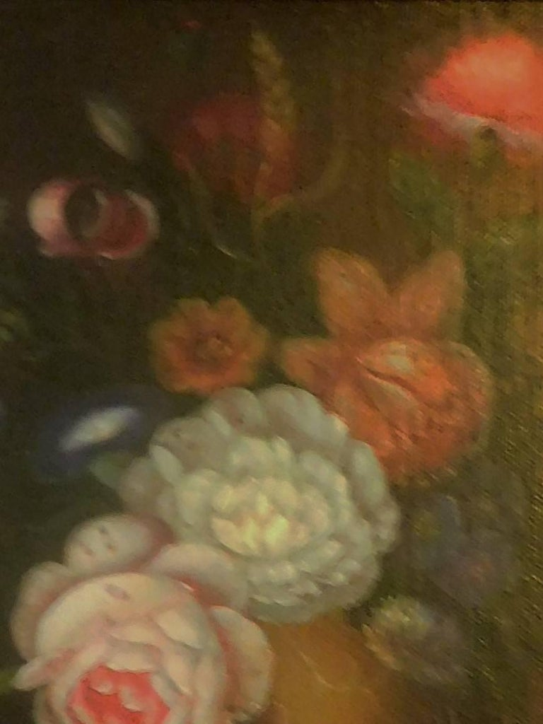 Still Life with Flowers, Josef K. Steiner, Small Oil Painting on Canvas 1