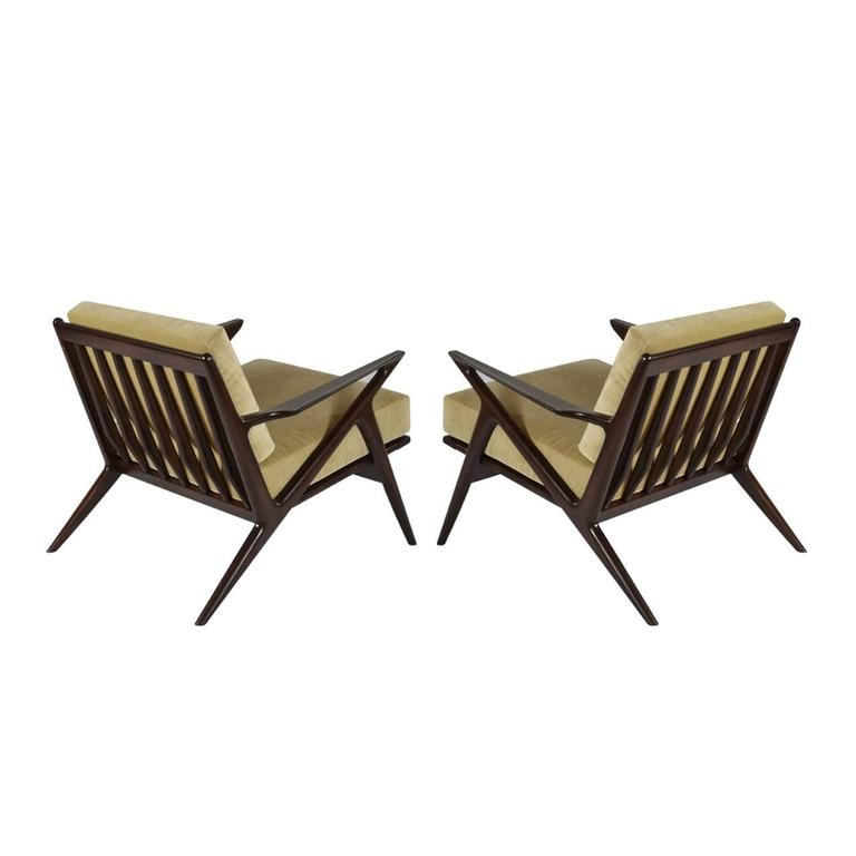 Poul Jensen For Selig Z Lounge Chairs Denmark 1950s For Sale At 1stdibs