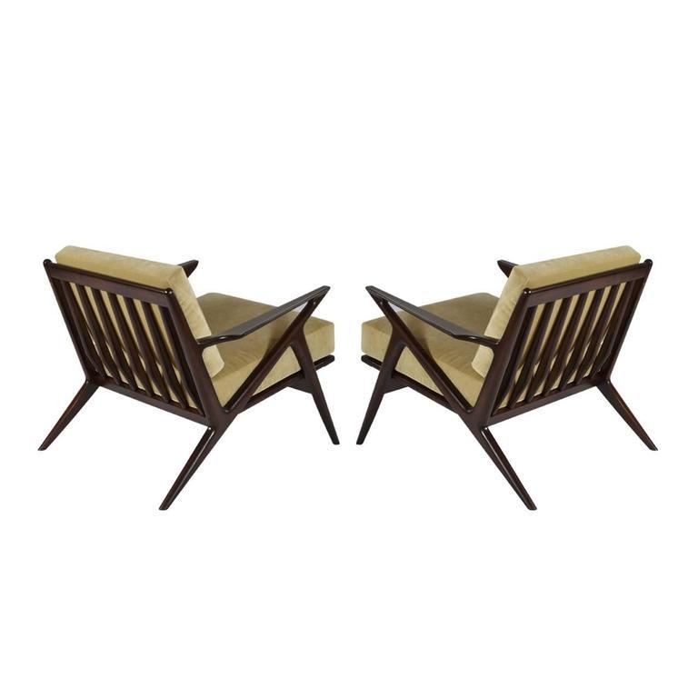 Poul jensen for selig z lounge chairs denmark 1950s for sale at 1stdibs - Selig z chair for sale ...