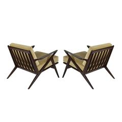 Poul Jensen for Selig Z Lounge Chairs, Denmark, 1950s