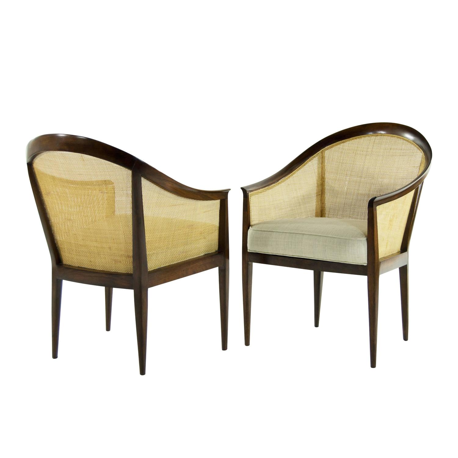 Pair of lounge chairs by kipp stewart for directional for for J furniture amory ms