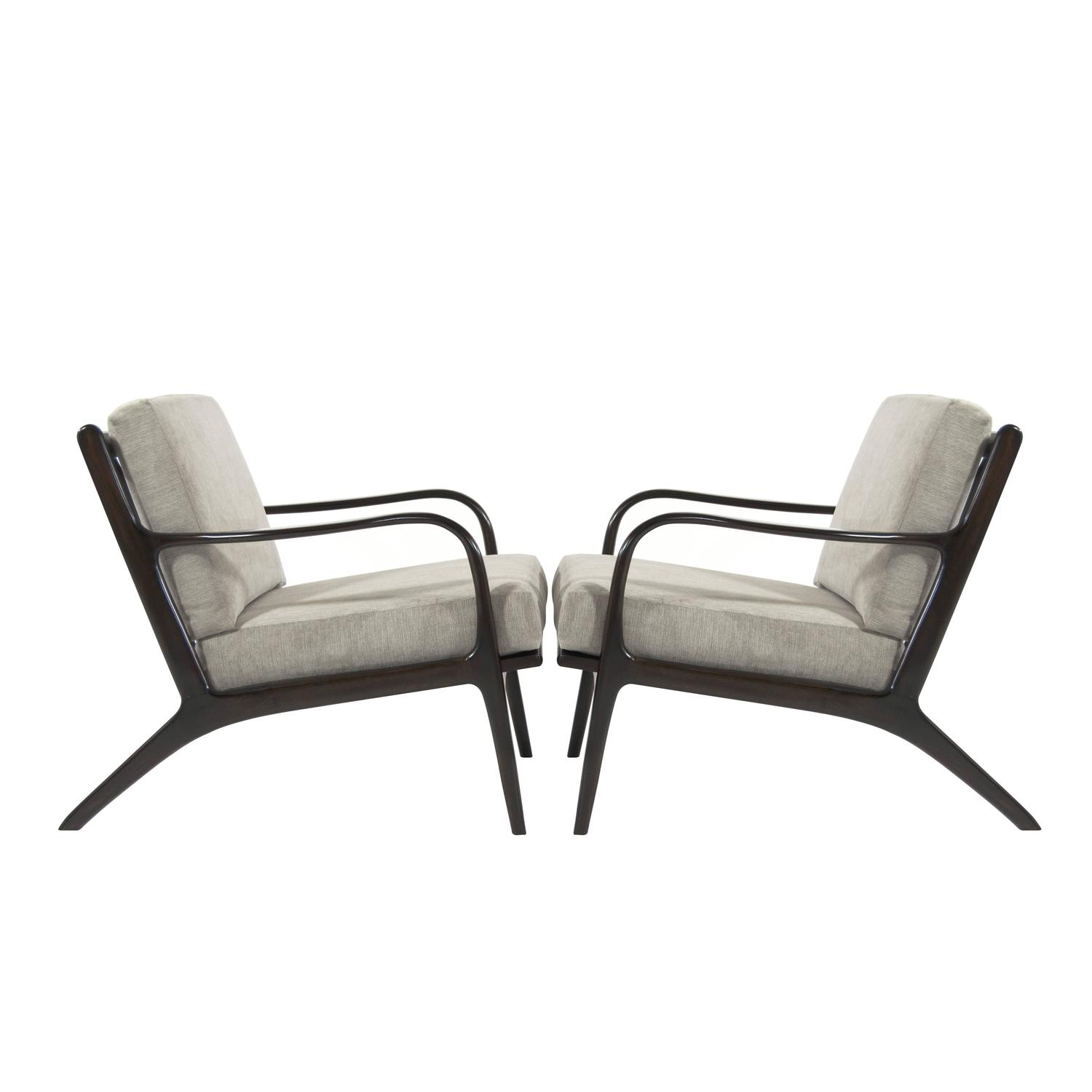 Adrian Pearsall Model 2315 C Lounge Chairs At 1stdibs