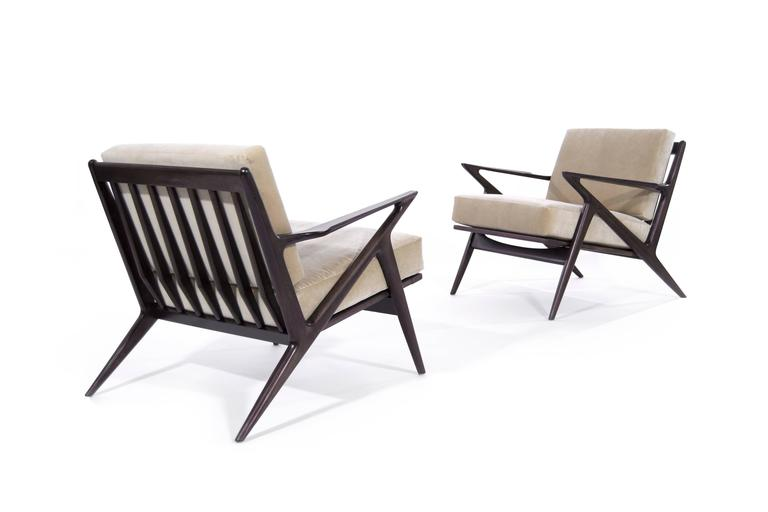 Poul Jensen For Selig 39 Z 39 Lounge Chairs Denmark For Sale At 1stdibs