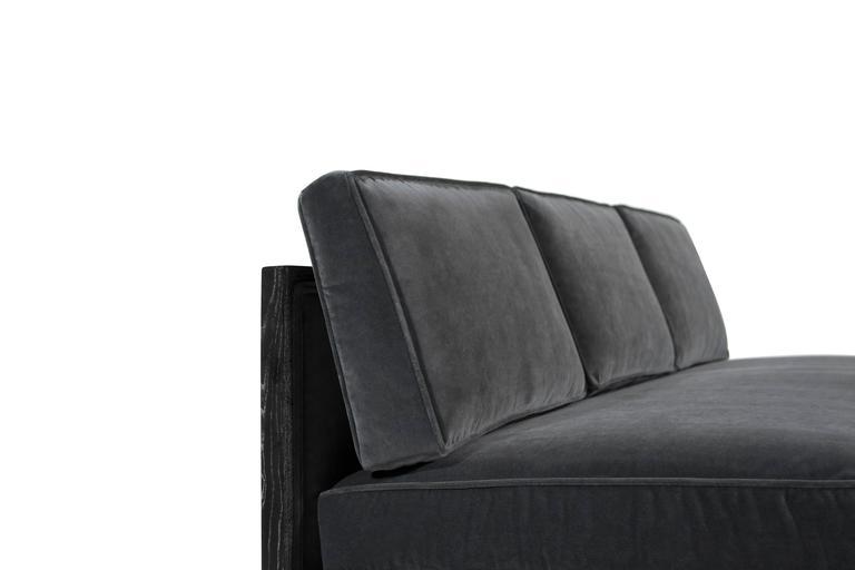 Velvet Edward Wormley for Dunbar Sectional Sofa For Sale
