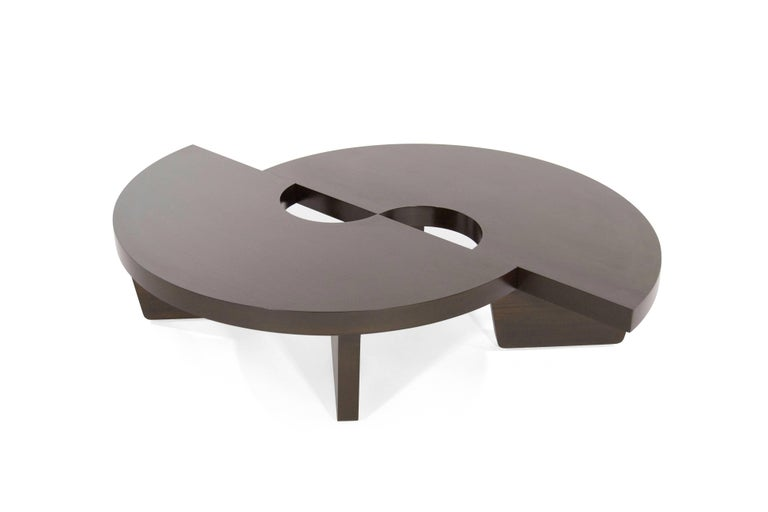 Mahogany Harvey Probber Nucleus Coffee Table, 1952 In Excellent Condition For Sale In Stamford, CT