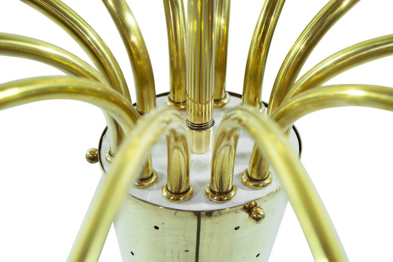 Brass Sputnik Chandelier, Italy 1950s For Sale 1