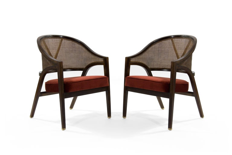 Exquisite and rare pair of armchairs labeled