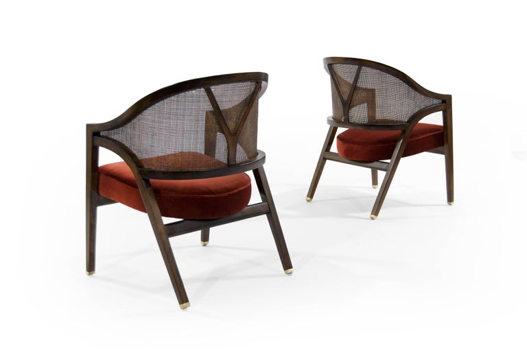 Edward Wormley for Dunbar Y-Back Captain Chairs In Excellent Condition For Sale In Stamford, CT