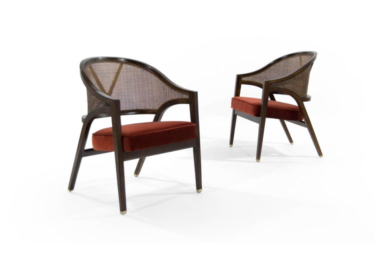 Mid-Century Modern Edward Wormley for Dunbar Y-Back Captain Chairs For Sale