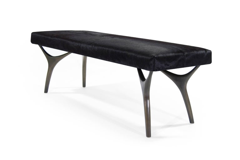 Mid-Century Modern Stamford Modern's Crescent Bench in Bronze For Sale