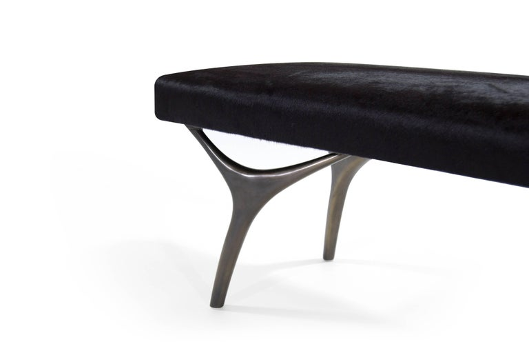 Stamford Modern's Crescent Bench in Bronze In Excellent Condition For Sale In Stamford, CT