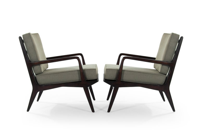 Mid-Century Modern Carlo di Carli Lounge Chairs for M. Singer & Sons, 1950s For Sale