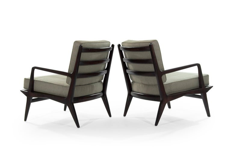 American Carlo di Carli Lounge Chairs for M. Singer & Sons, 1950s For Sale