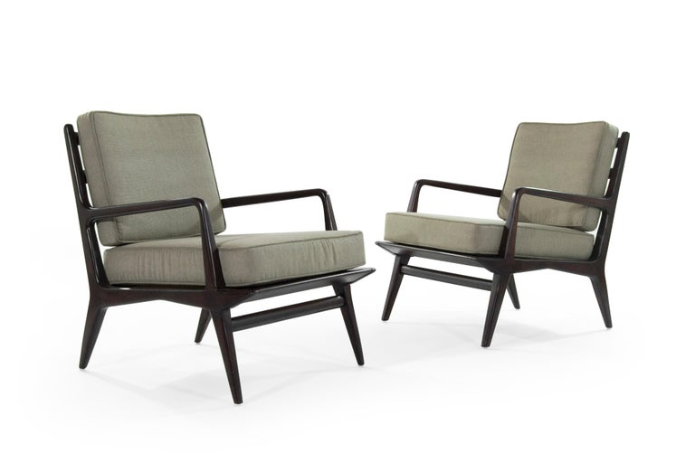 Carlo di Carli Lounge Chairs for M. Singer & Sons, 1950s In Excellent Condition For Sale In Stamford, CT