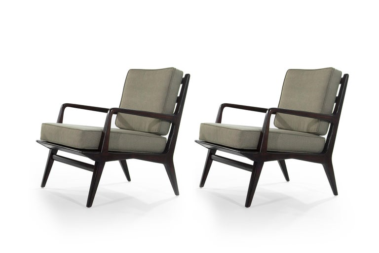 20th Century Carlo di Carli Lounge Chairs for M. Singer & Sons, 1950s For Sale