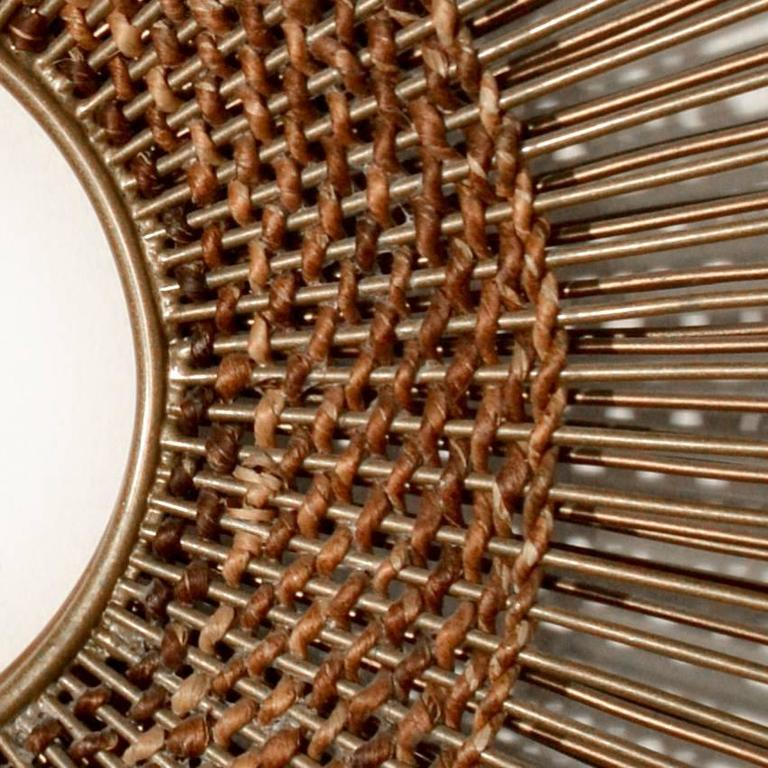 Woven Sunburst Wall Sculpture 4