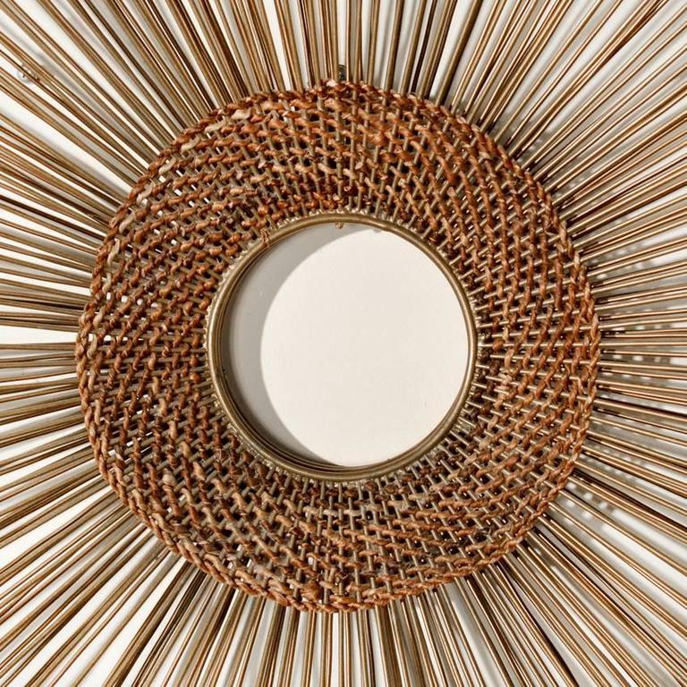 Woven Sunburst Wall Sculpture 6