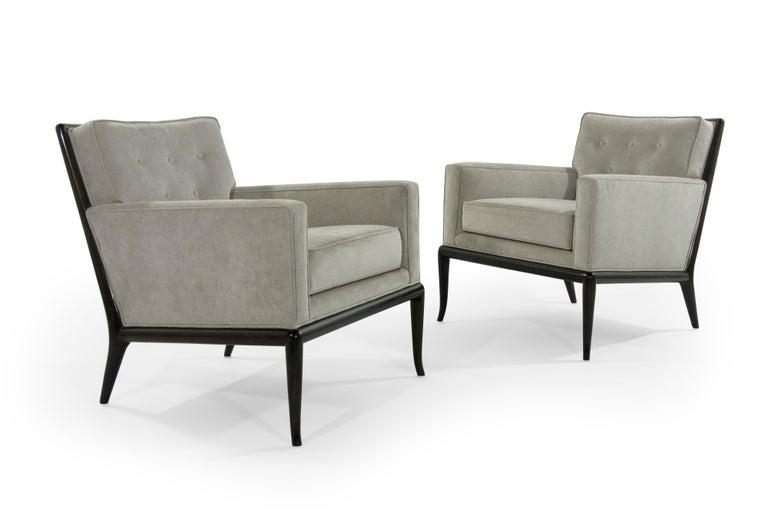 Velvet T.H. Robsjohn-Gibbings for Widdicomb Lounge Chairs, 1950s For Sale