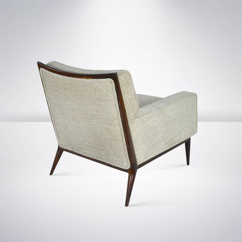 Paul McCobb for Directional Lounge Chair in Grey Chenille