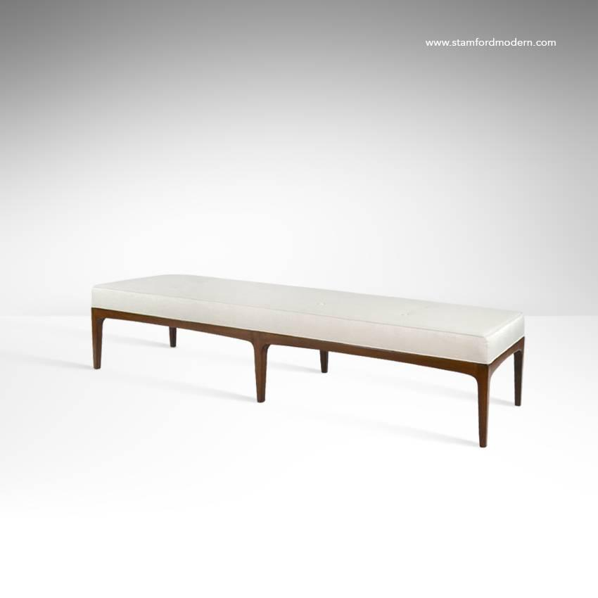 Extra Long Paul Mccobb Style Bench In Linen For Sale At 1stdibs