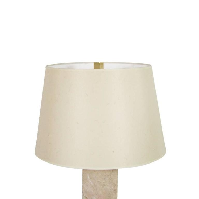 Pair Of Travertine Table Lamps 1950s For Sale At 1stdibs