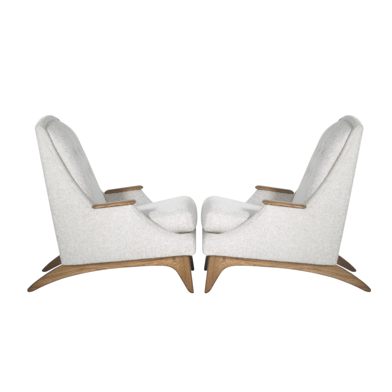 Sculptural Highback Lounge Chairs By Adrian Pearsall For Sale At 1stdibs