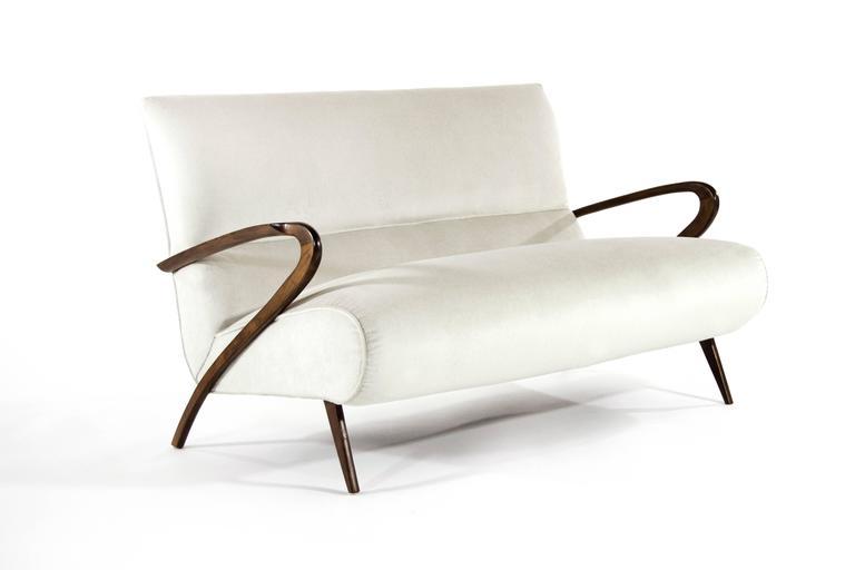 Mid-Century Modern Italian Paolo Buffa Style Settee For Sale