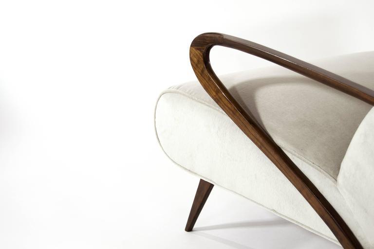 Velvet Italian Paolo Buffa Style Settee For Sale