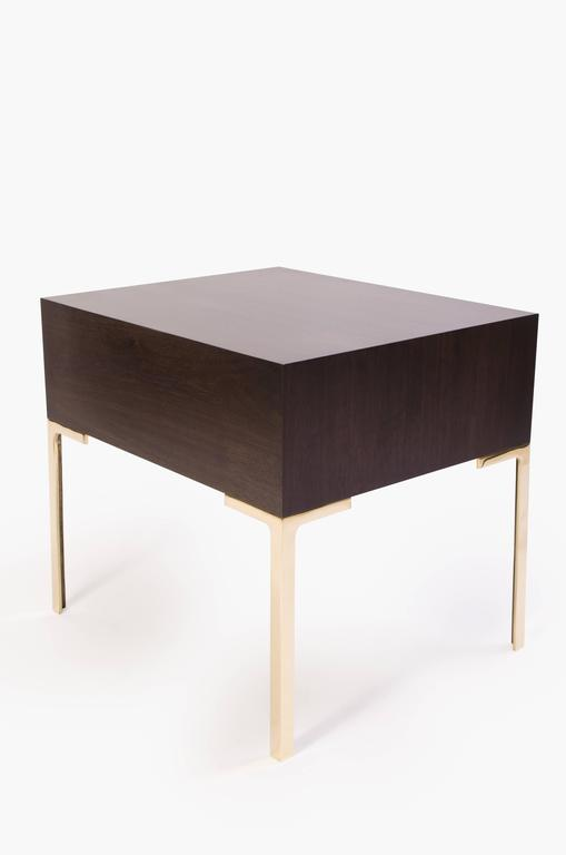 Astor Nightstands in Contrasting Ebony & Ivory by Montage 4