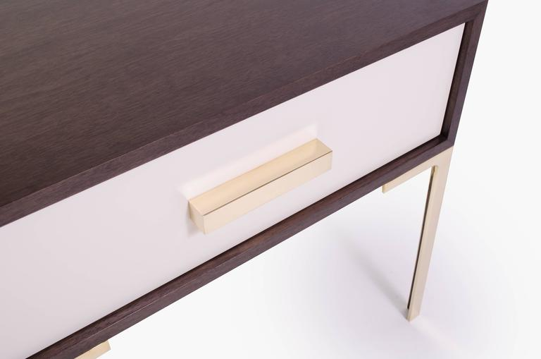 Astor Nightstands in Contrasting Ebony & Ivory by Montage 3