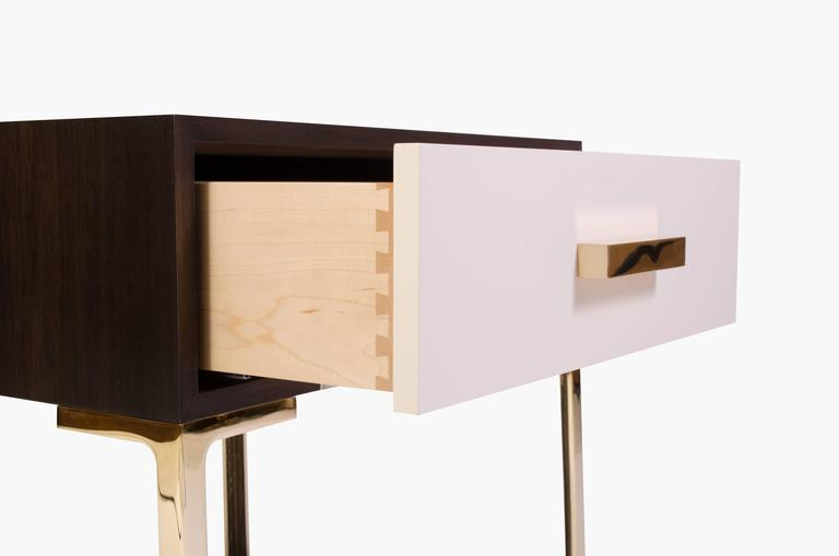 Astor Nightstands in Contrasting Ebony & Ivory by Montage 10