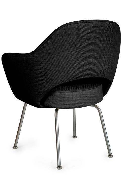 Saarinen for Knoll Executive Arm Chairs in Black Woven  : SaarinenArmchairBelgiumBlackBackl from www.1stdibs.com size 512 x 768 jpeg 26kB