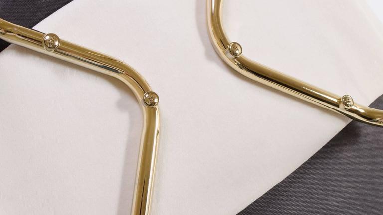 Saarinen Executive Armchair in Crème Velvet, 24-Karat Gold Edition, Set of 6 9